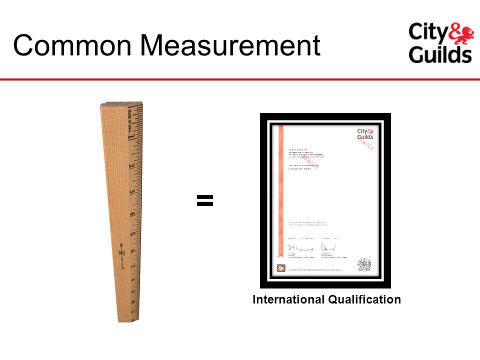 Common Measurement = International Qualification