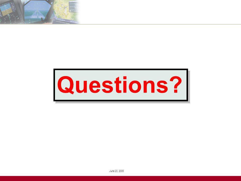 June 23, 2005 Questions