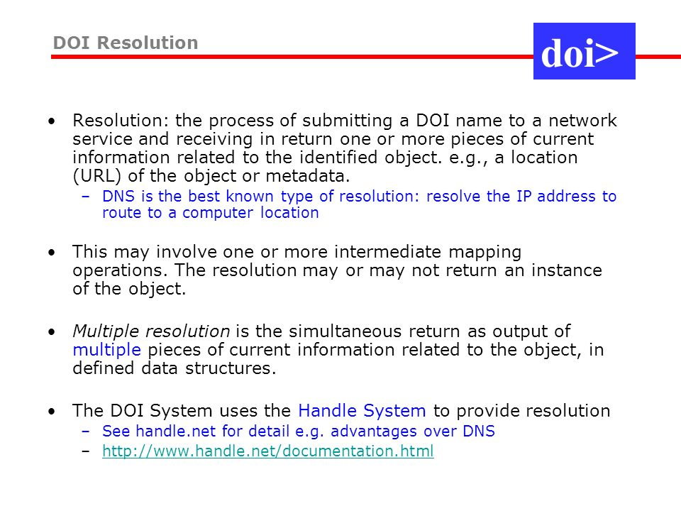 http://www.handle.net/apps.html Provides infrastructure for application domains, e.g.
