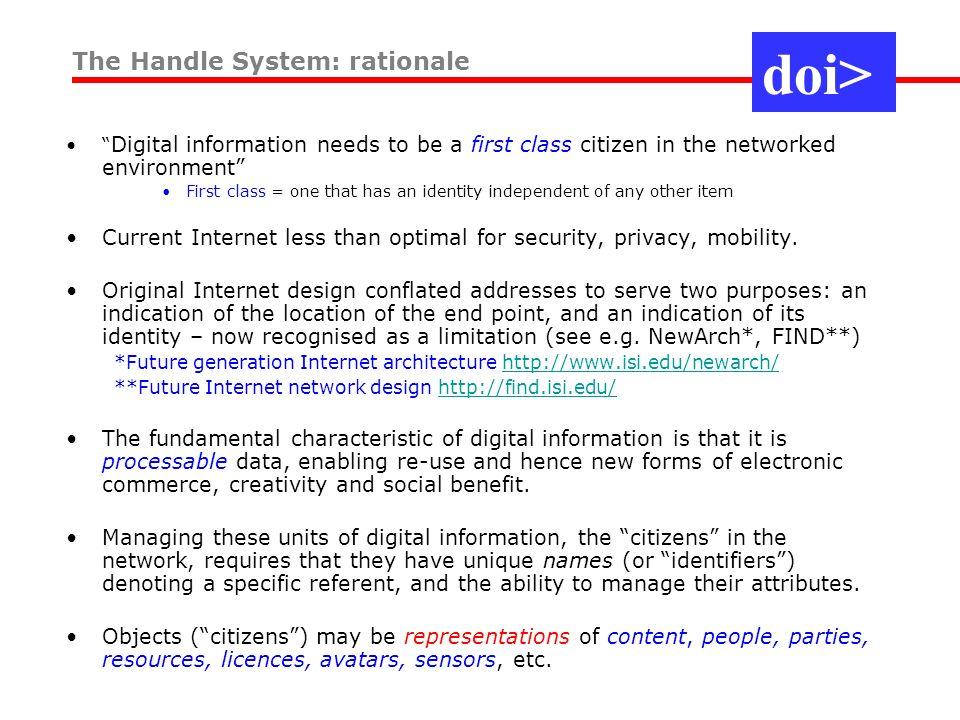 Workshop on the DOI System DOI SYSTEM: RESOLUTION International DOI Foundation