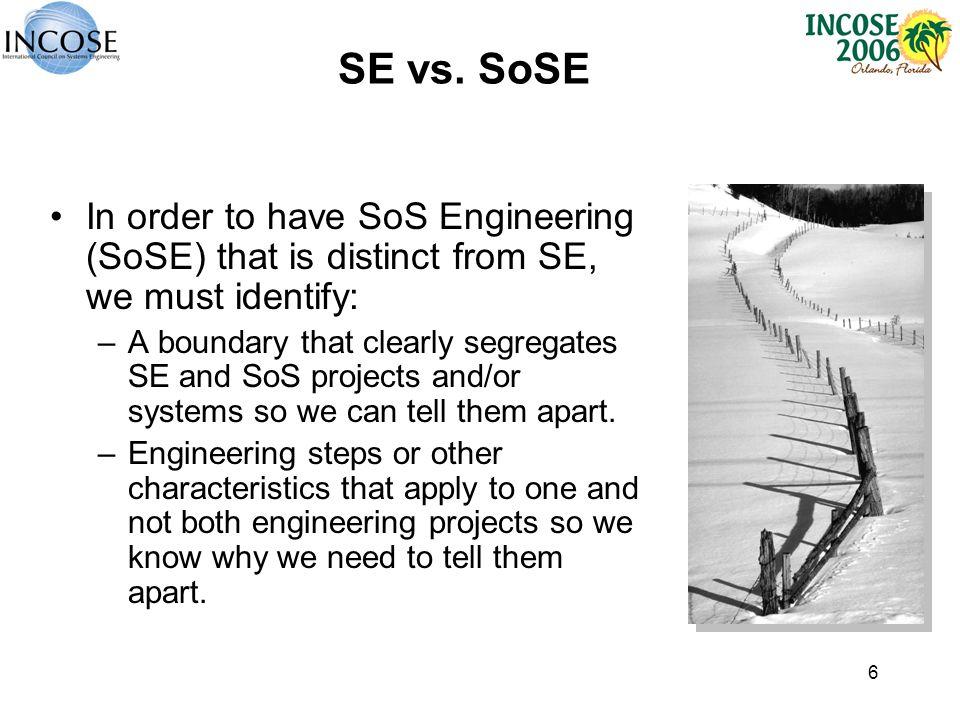 6 SE vs.