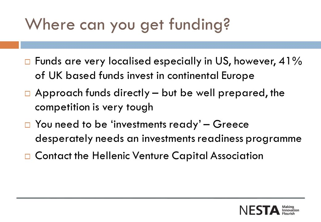 Where can you get funding.