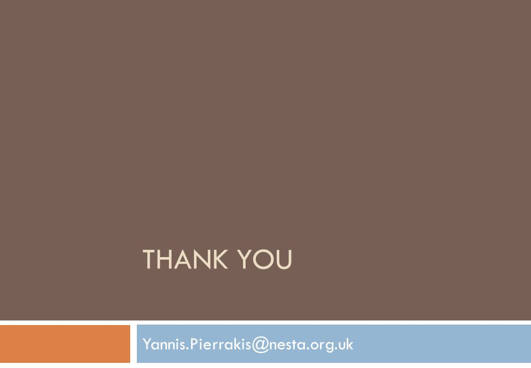 THANK YOU Yannis.Pierrakis@nesta.org.uk