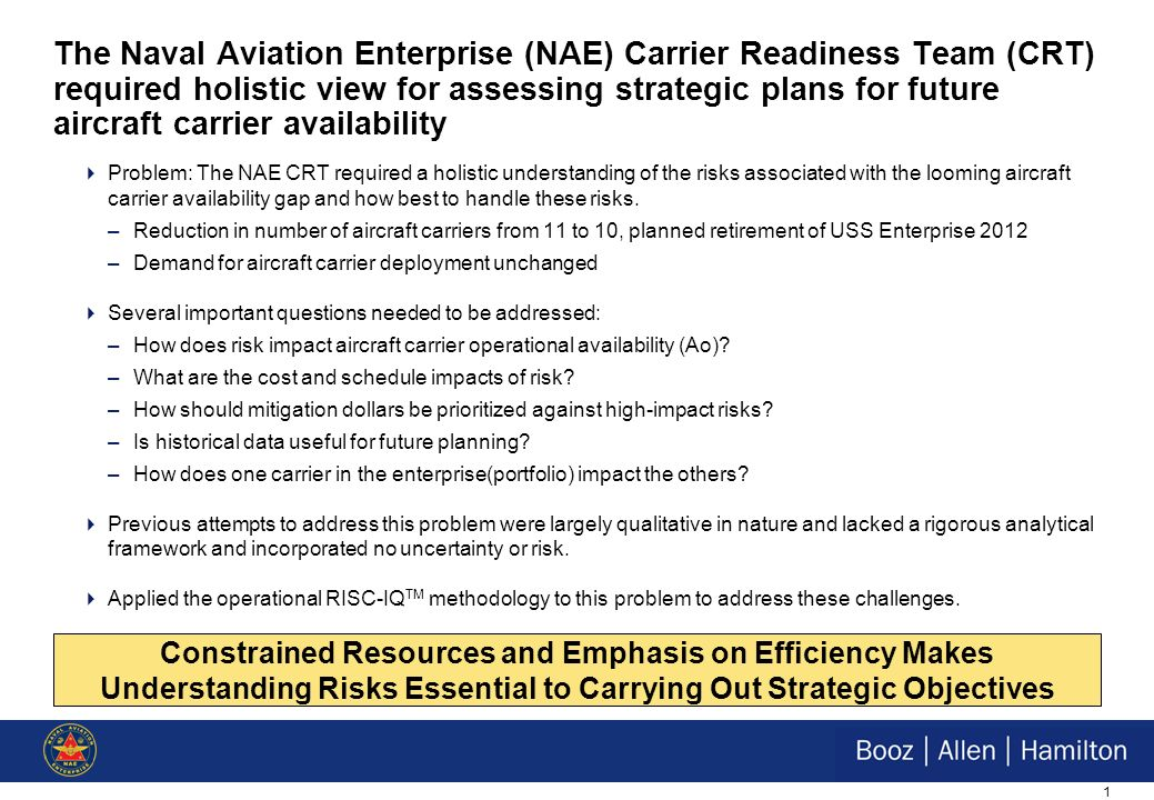Decision Analysis and Its Applications to Systems Engineering INCOSE/SCEA November 18, 2009 Navy Aircraft Carrier Gap Analysis Justin Hornback & Robin Smith