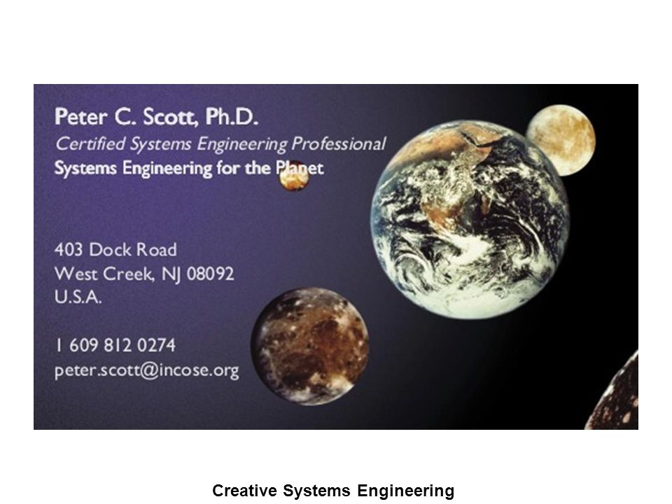 Creative Systems Engineering