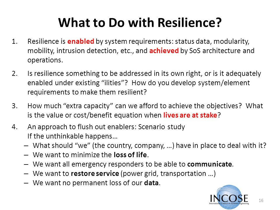 What to Do with Resilience.