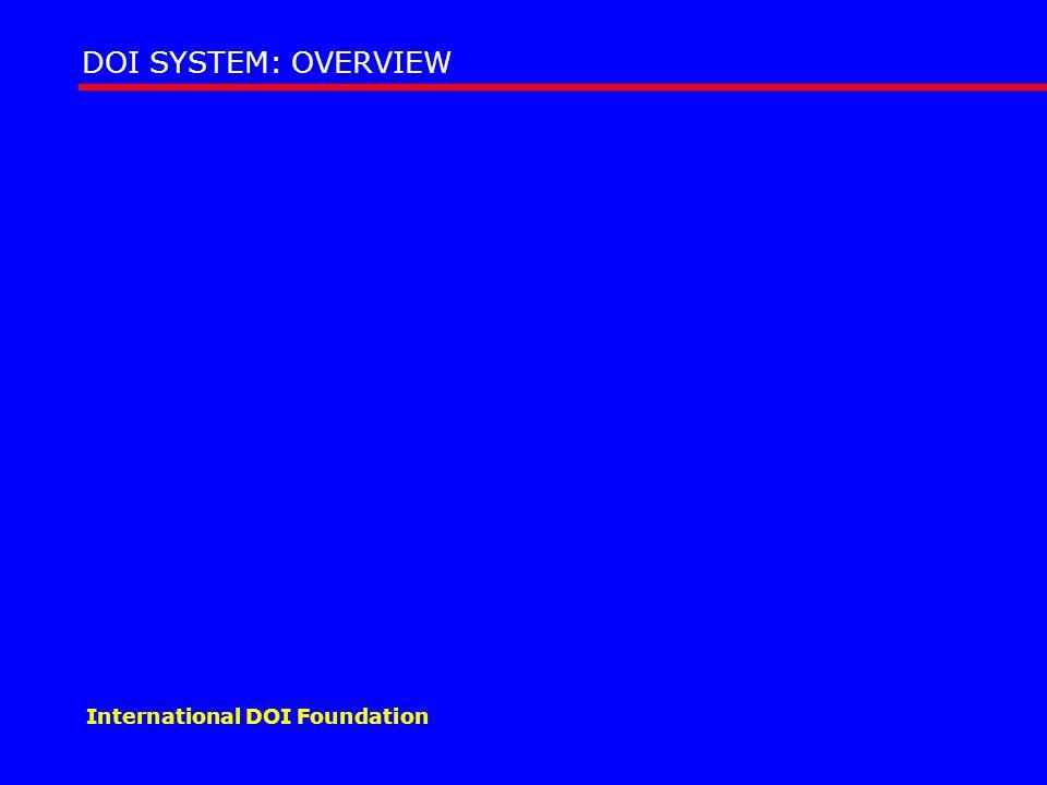 DOI SYSTEM: OVERVIEW International DOI Foundation