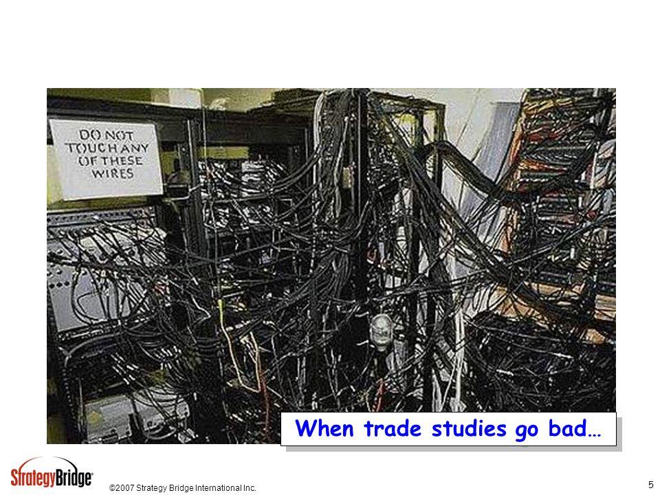 ©2007 Strategy Bridge International Inc. 36 Typical USG Resource Decision