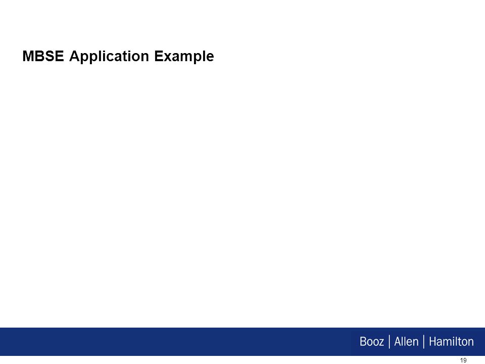 19 MBSE Application Example