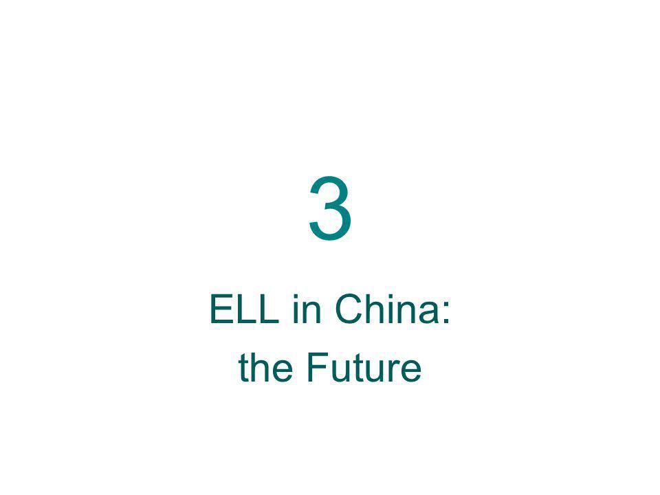 3 ELL in China: the Future