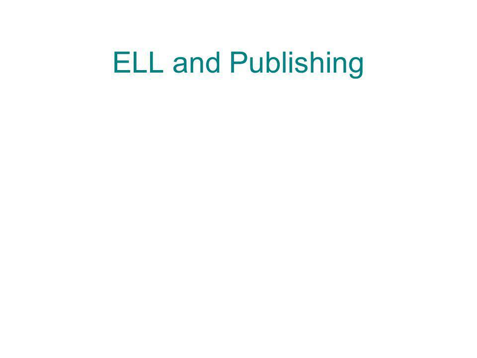 ELL and Publishing