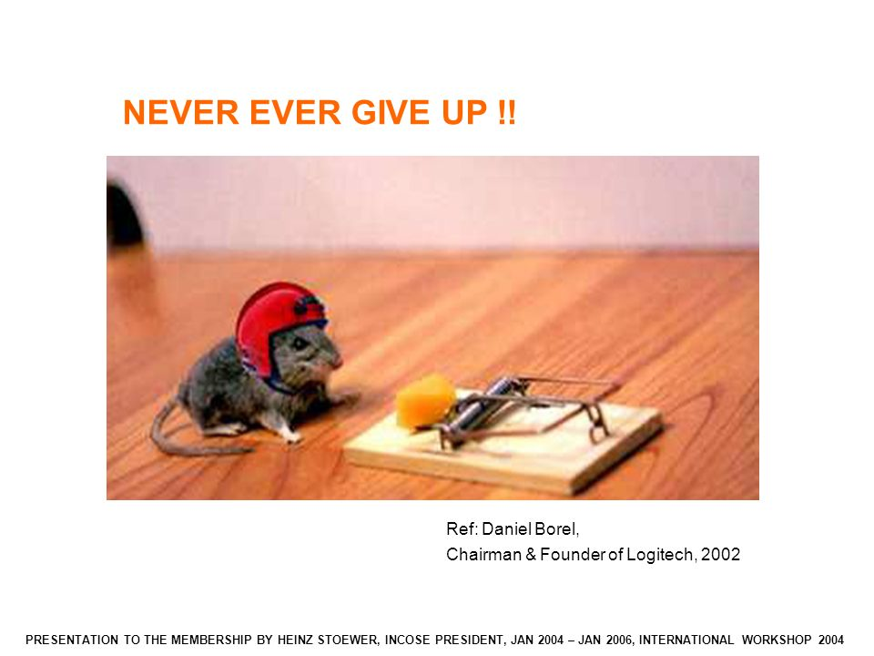 NEVER EVER GIVE UP !.