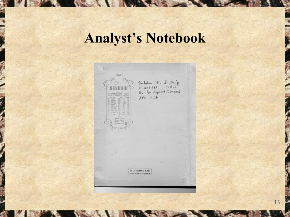 43 Analysts Notebook