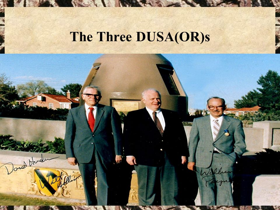 58 The Three DUSA(OR)s