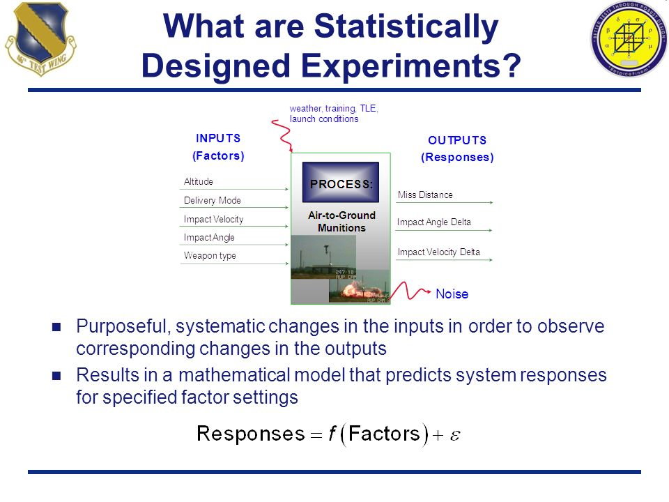 What are Statistically Designed Experiments? Purposeful, systematic changes in the inputs in order to observe corresponding changes in the outputs Res