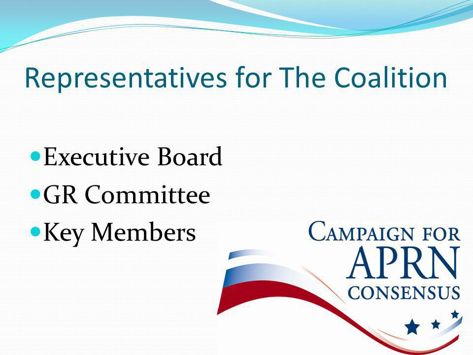 Representatives for The Coalition Executive Board GR Committee Key Members