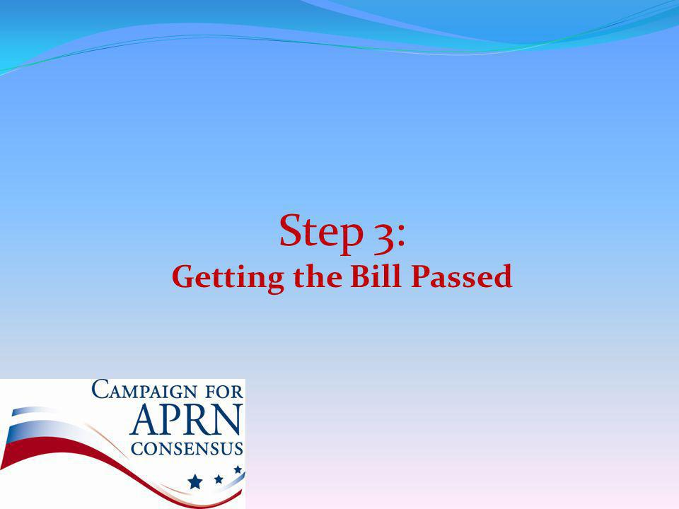 Step 3: Getting the Bill Passed