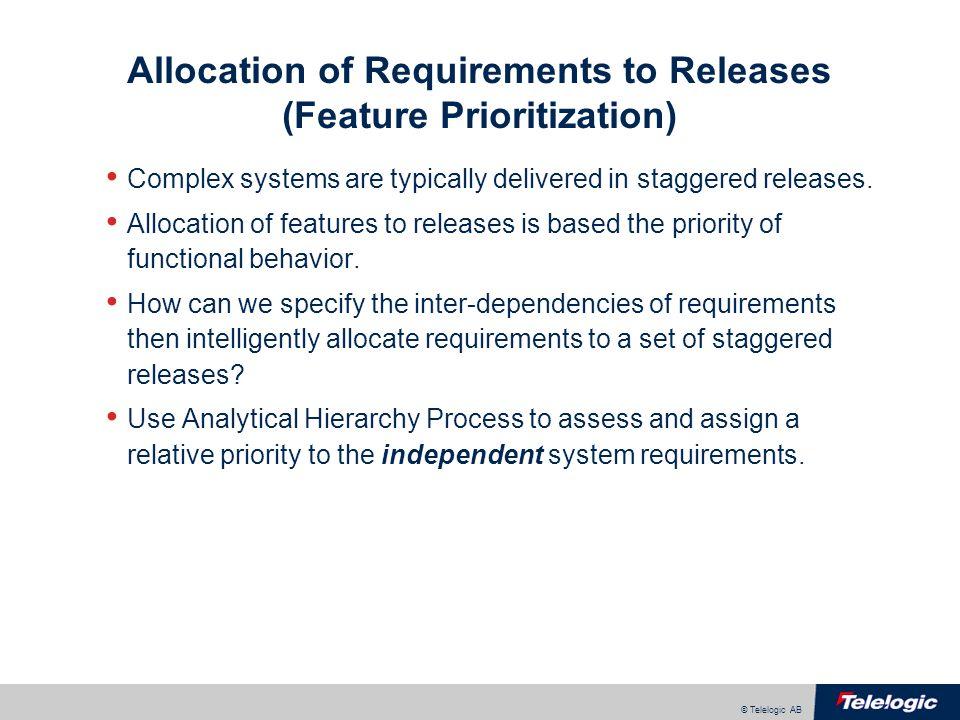 © Telelogic AB Seven Step Trade Study Methodology 1.