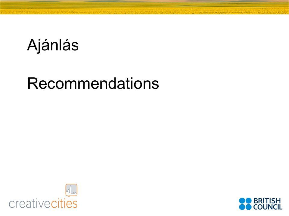 Ajánlás Recommendations