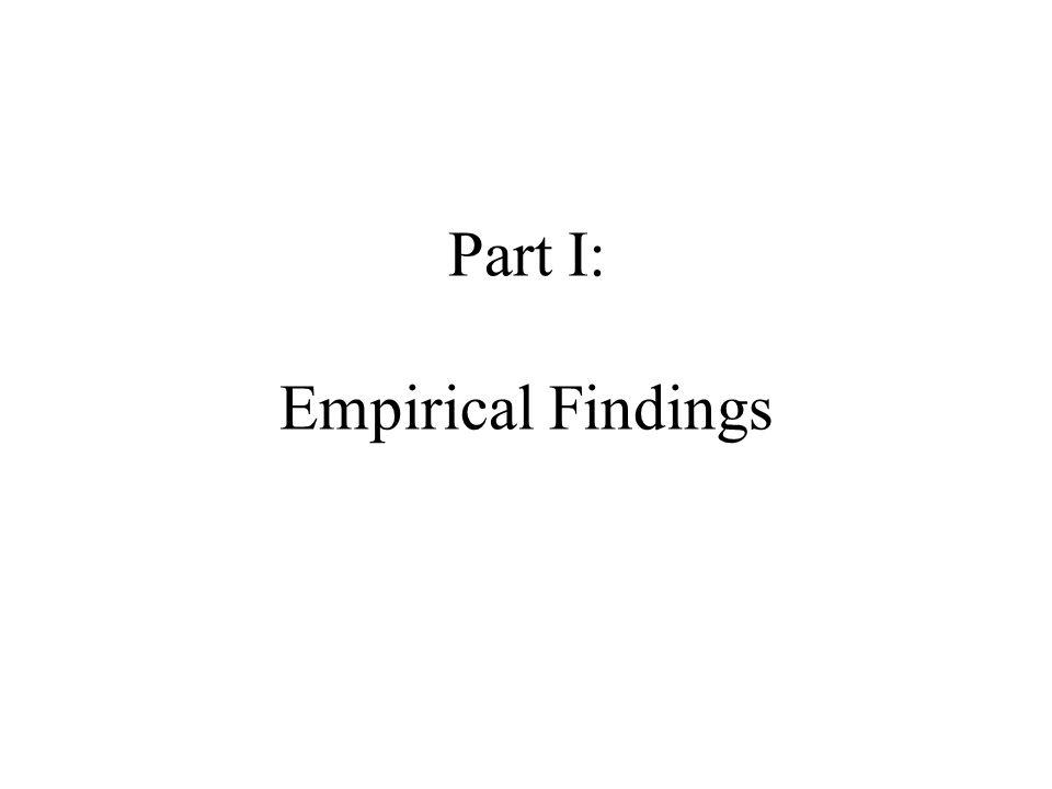 Part I: Empirical Findings