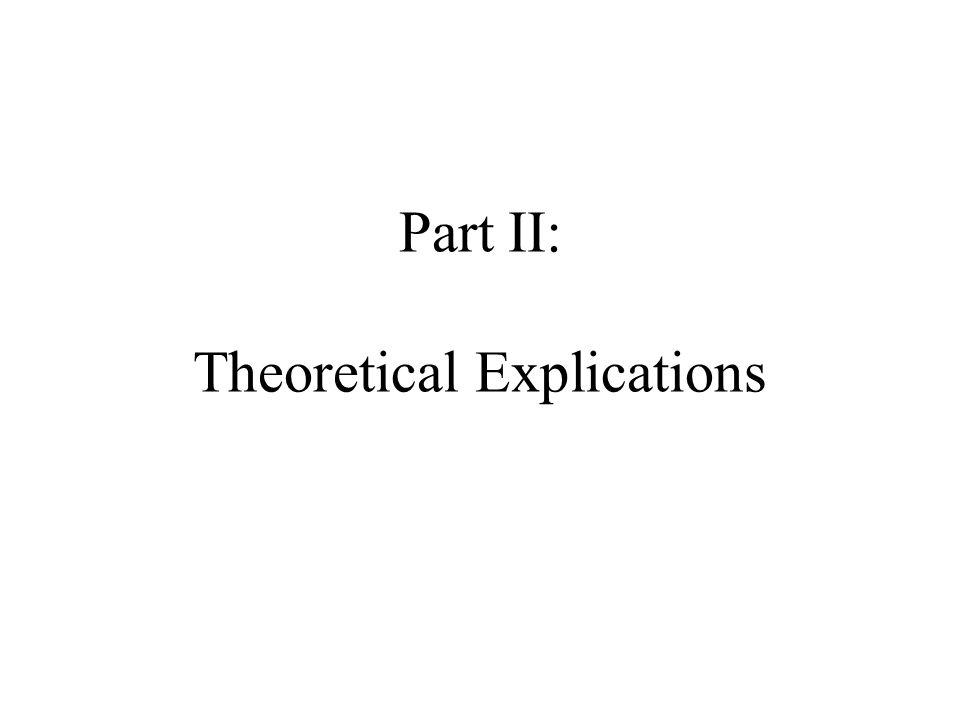 Part II: Theoretical Explications