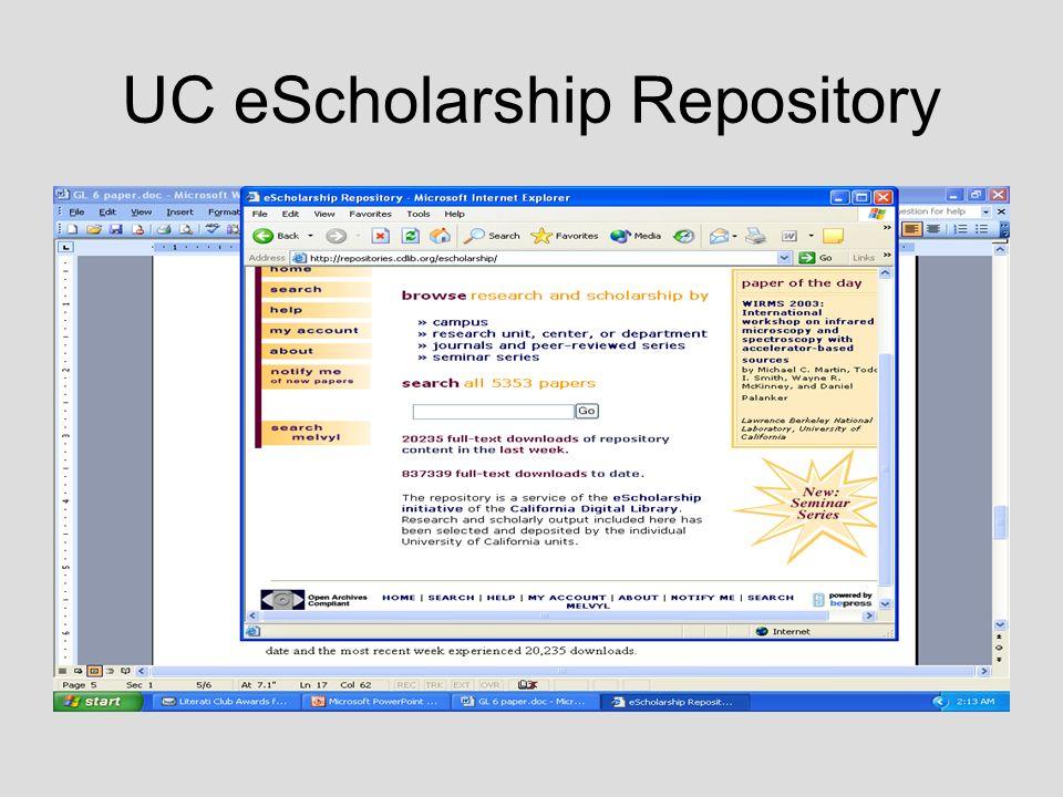 UC eScholarship Repository