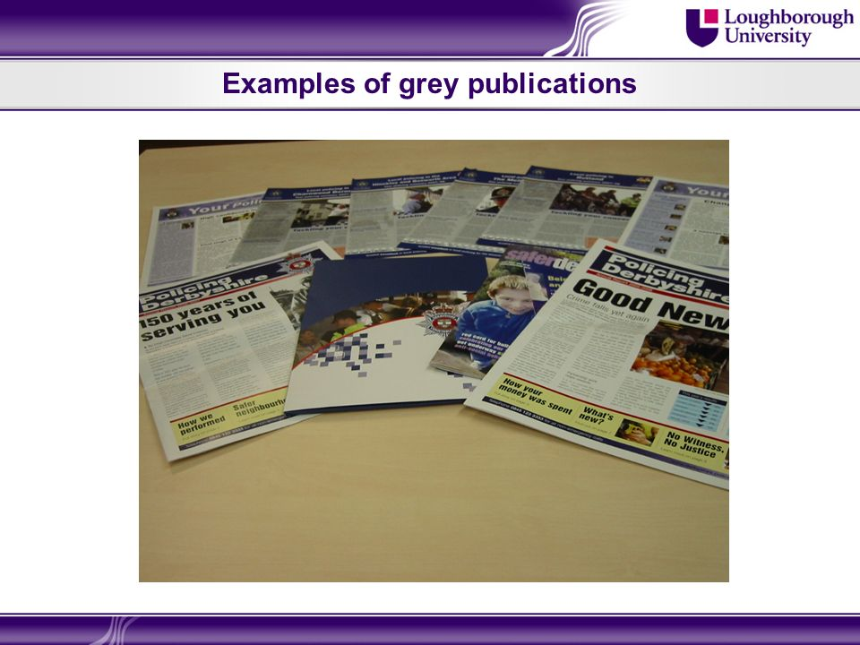 Examples of grey publications