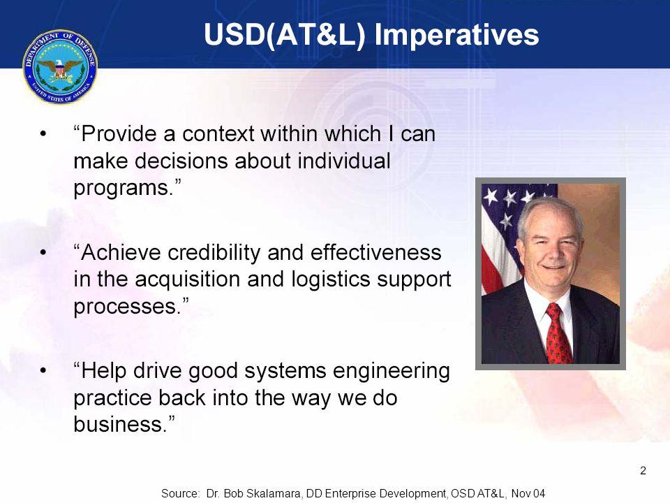 RG_INCOSE-52 Source: Dr. Bob Skalamara, DD Enterprise Development, OSD AT&L, Nov 04