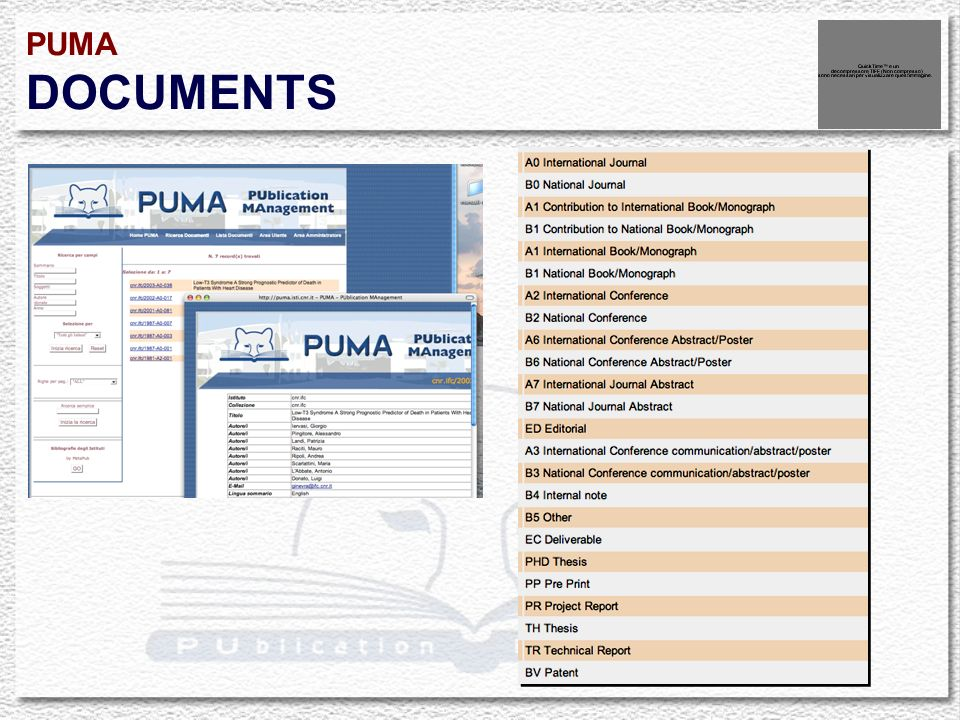 PUMA DOCUMENTS