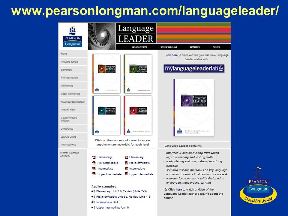 www.pearsonlongman.com/languageleader/