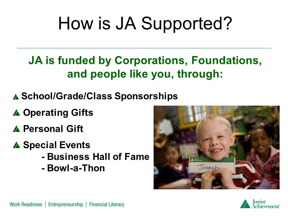 How is JA Supported.