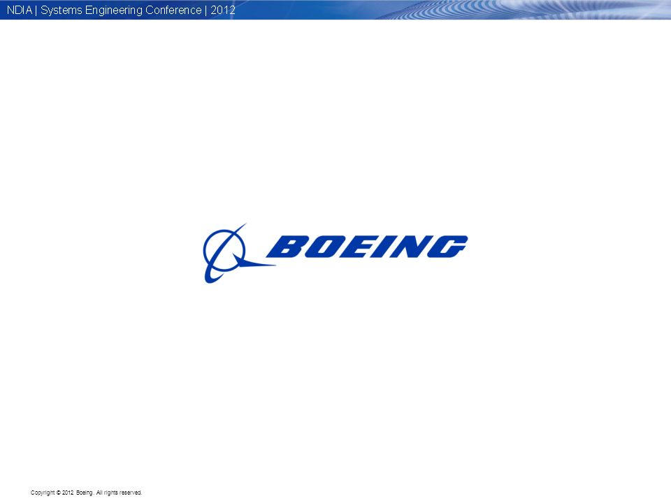 Copyright © 2012 Boeing. All rights reserved.