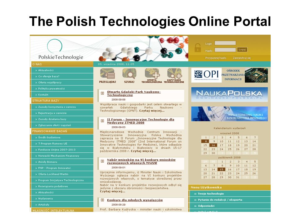 The Polish Technologies Online Portal
