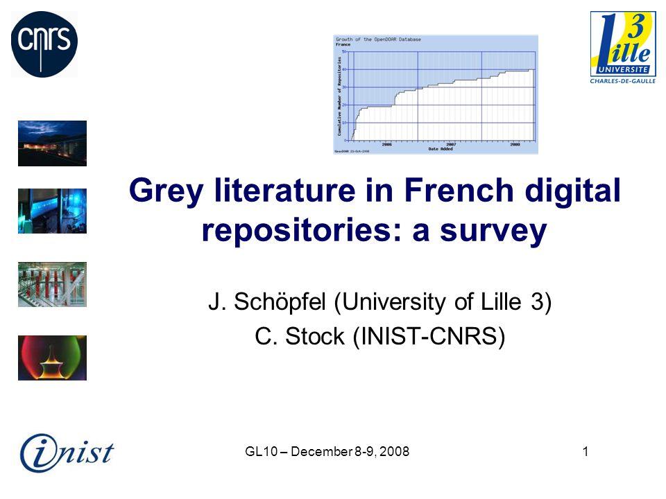GL10 – December 8-9, 200812 GL document types