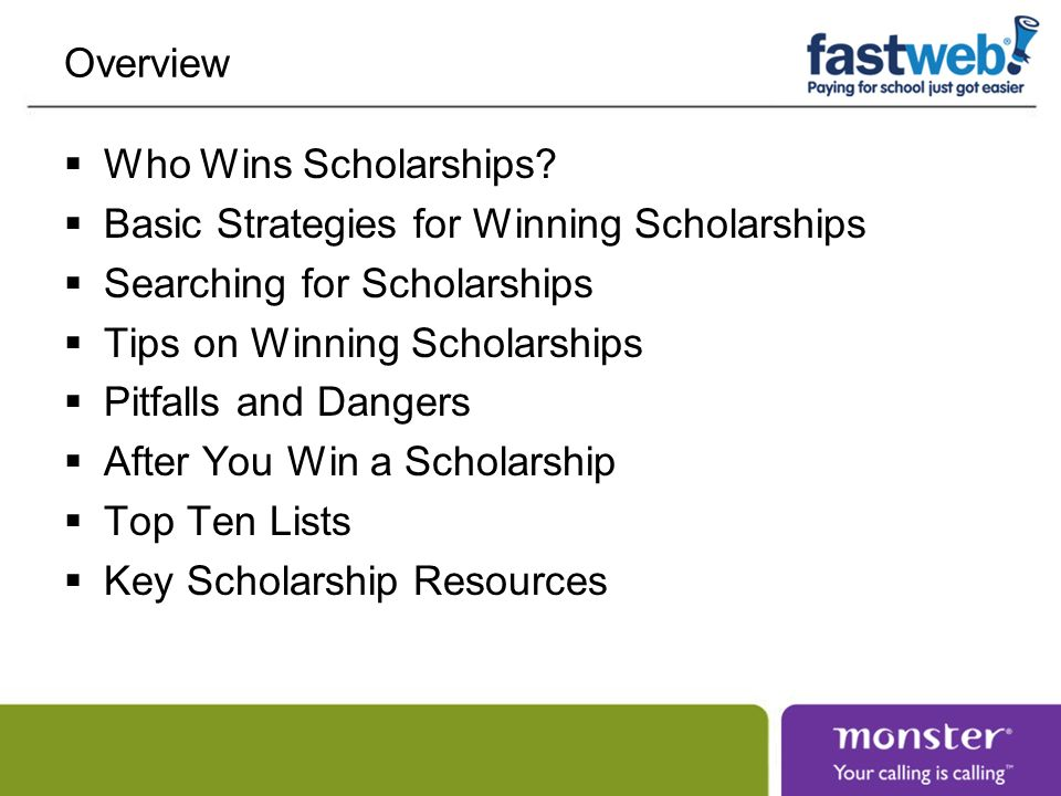 Overview Who Wins Scholarships.