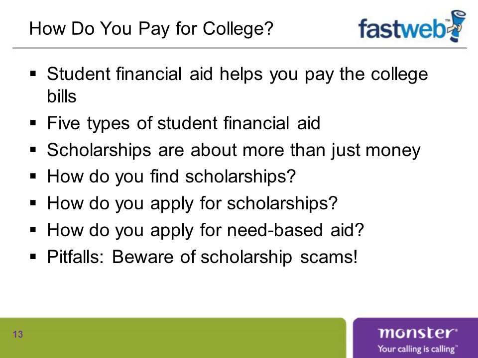 How Do You Pay for College.