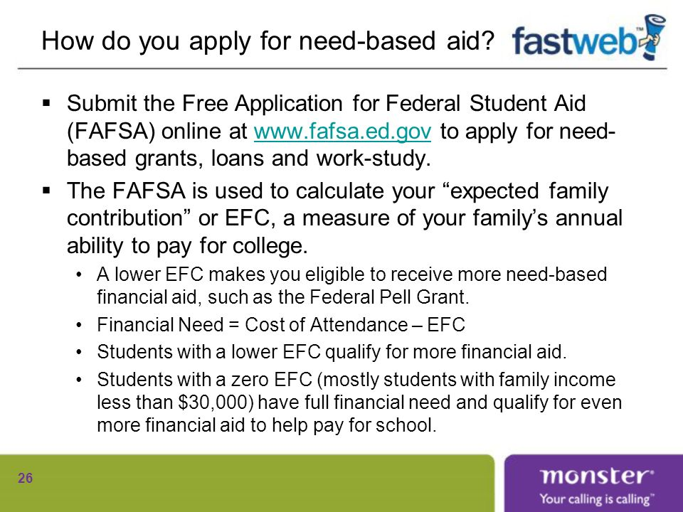 How do you apply for need-based aid.