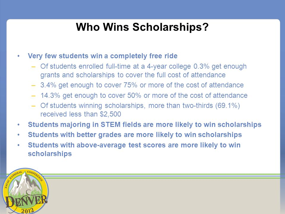 Who Wins Scholarships.