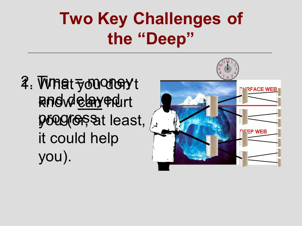 Two Key Challenges of the Deep 1.