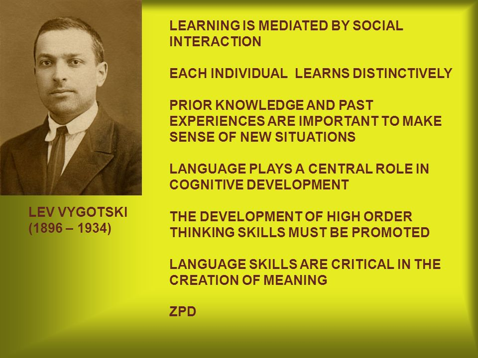 LEARNING IS MEDIATED BY SOCIAL INTERACTION EACH INDIVIDUAL LEARNS DISTINCTIVELY PRIOR KNOWLEDGE AND PAST EXPERIENCES ARE IMPORTANT TO MAKE SENSE OF NE