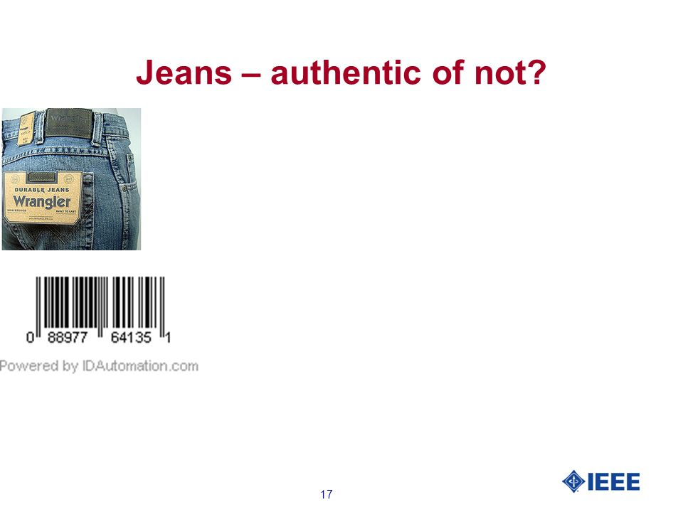 17 Jeans – authentic of not?