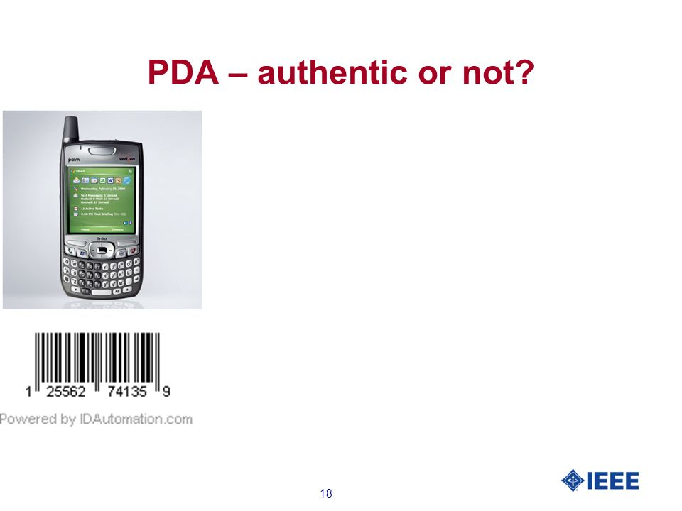 18 PDA – authentic or not?