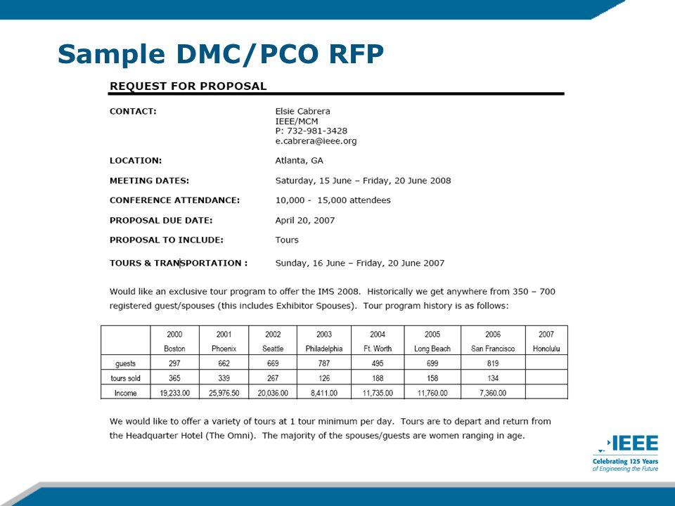 Sample DMC/PCO RFP