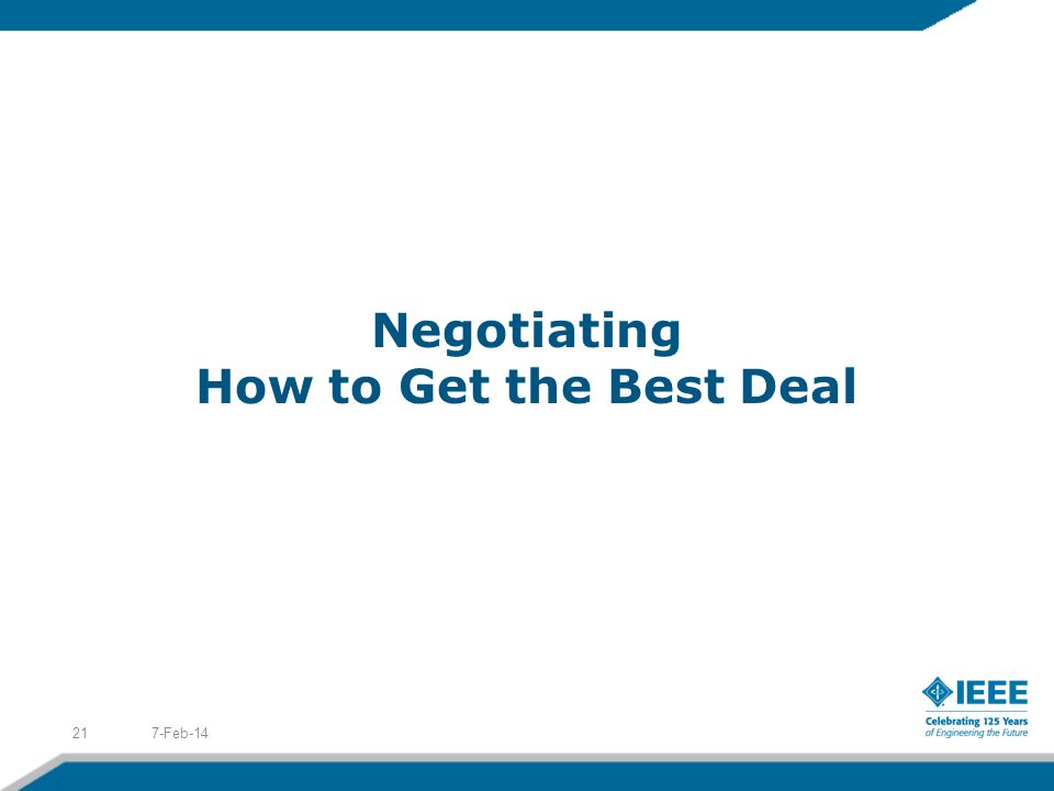 Negotiating How to Get the Best Deal 7-Feb-1421