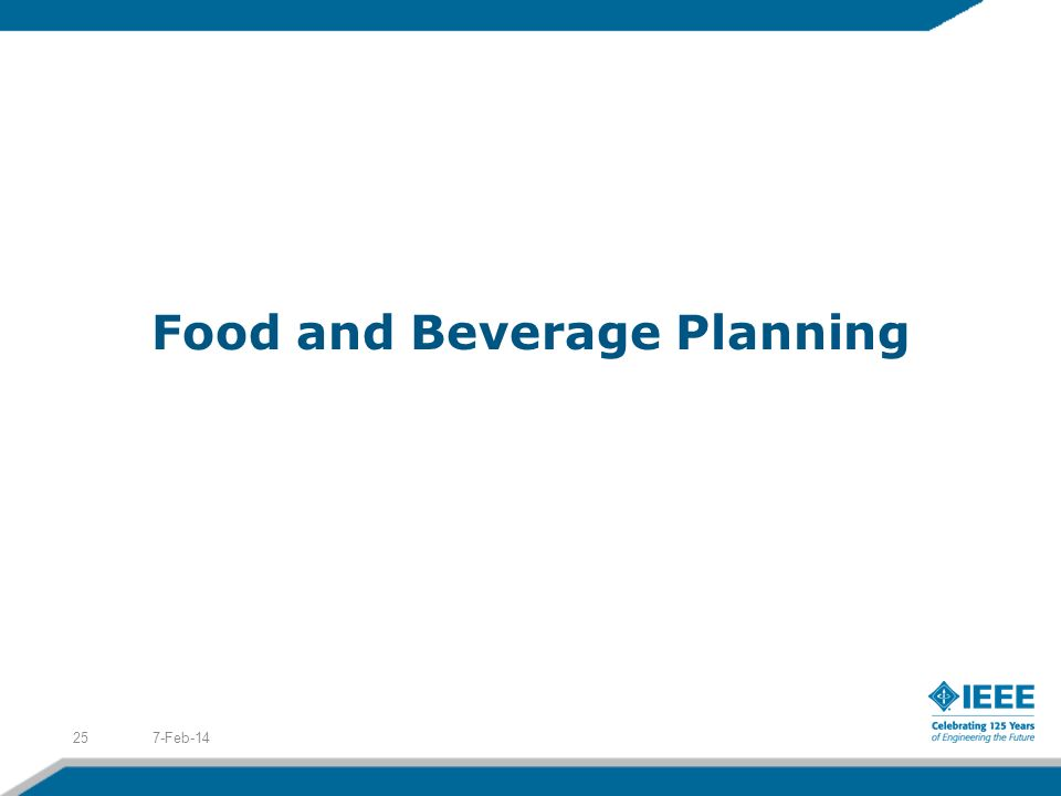 Food and Beverage Planning 7-Feb-1425