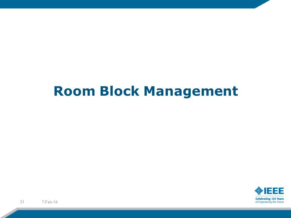 Room Block Management 7-Feb-1431
