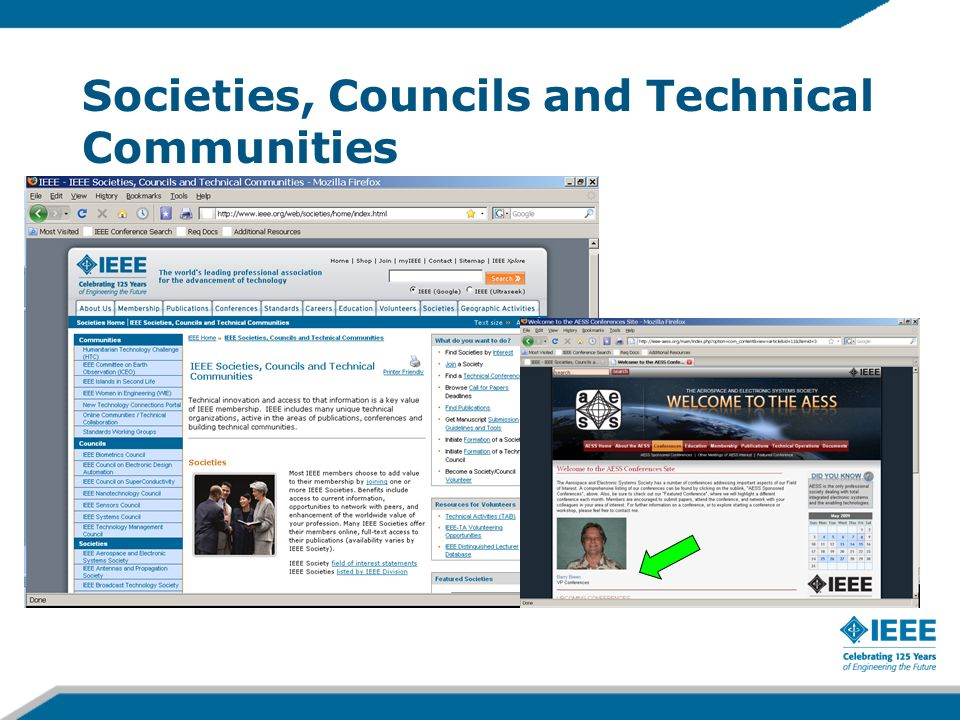 Societies, Councils and Technical Communities