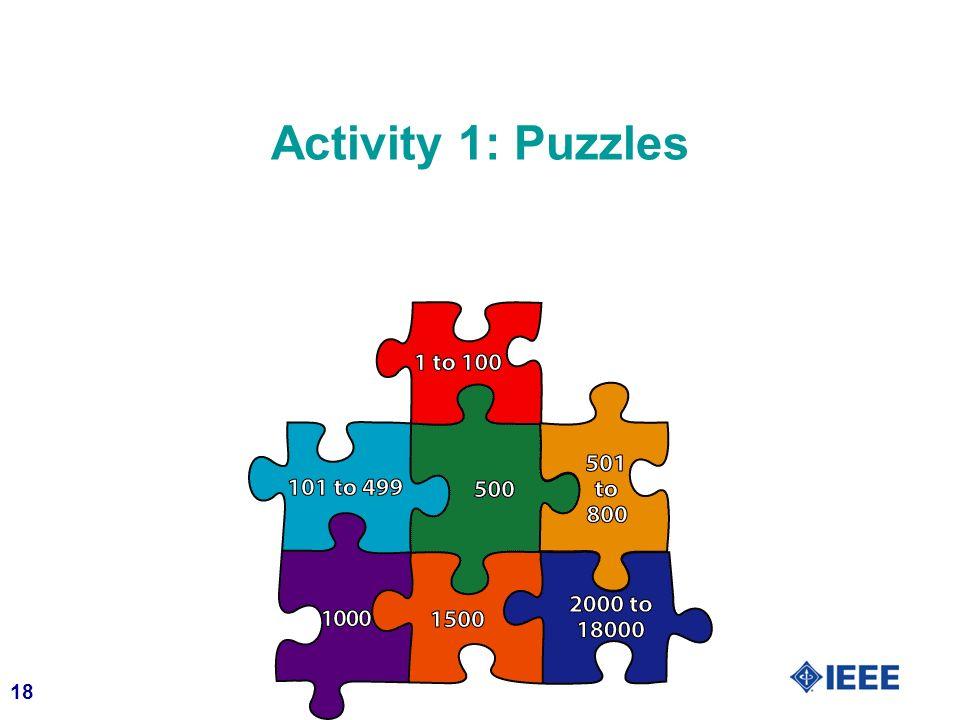 18 Activity 1: Puzzles