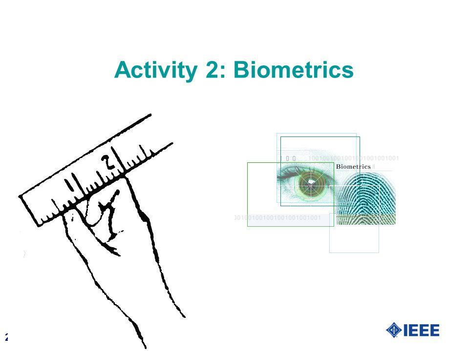 21 Activity 2: Biometrics