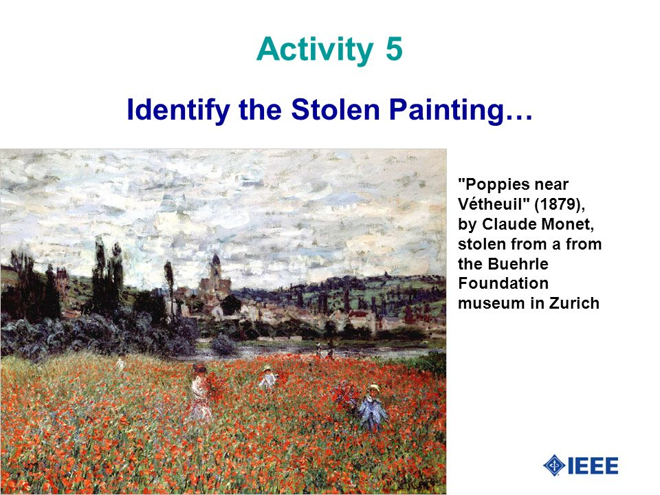 45 Activity 5 Identify the Stolen Painting…